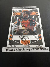 2012 NRL DYNASTY SILVER PARALLEL CARD NO.194 LOTE TUQIRI WESTS TIGERS