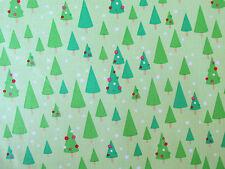 Riley Blake Fabric CHRISTMAS CANDY Green Christmas Trees- yards