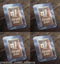 4 GRAIN 24K PURE 999.9 FINE  GOLD BULLION  PROFESSIONALLY MINTED CERTIFIED BAR