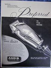 Vintage Barbershop Andis Master Preferred Clipper Sign