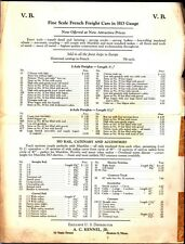 [35692] OLD A.C. KENNEL FINE SCALE FRENCH FREIGHT CARS IN HO GAUGE PRICE LIST
