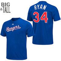 Nolan Ryan #34 Texas Rangers Jersey T-Shirt 5XL Cooperstown MLB Majestic Blue