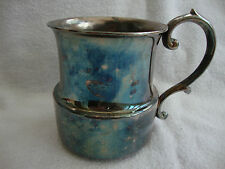 VINTAGE SILVER PLATED EPNS SMALL CHILD'S CHRISTENING MUG  INITIALLED BB