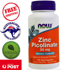 Now Foods Zinc Picolinate 50 mg 120 Vegan Caps Supports Enzyme Functions
