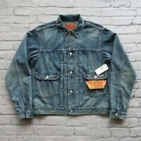 New RRL Double RL Ralph Lauren Type 2 Selvedge Denim Jean Jacket Size M Vtg