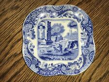 Antique Copeland Spode Italian Blue Small Square Butter Plate
