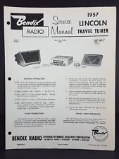 Bendix 1957 Lincoln Auto Radio Service Manual Model R78BL