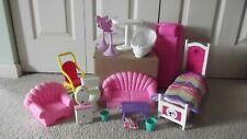 Barbie Dollhouse Furniture MIXED Lot: BEDROOM LIVING ROOM BATHROOM KITCHEN