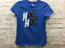 NIKE Boys Large Blue Logo T-Shirt  GUC