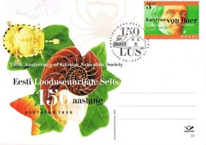 2778 - Estonia - 2003 - 150 years Naturalists Society #17 - PostCard - FDC