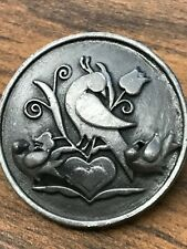 Pin and Earrings Torino Vintage Pewter Bird