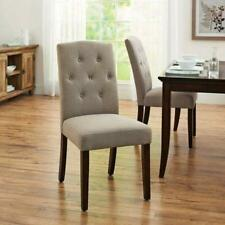 BETTER HOMES & GARDENS PARSONS DINING ROOM TABLE CHAIR, TAUPE
