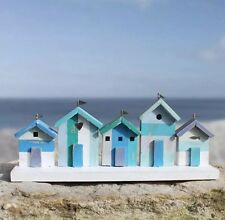 Wooden Marine Coloured Beach Hut Seaside Parade Nautical Themed