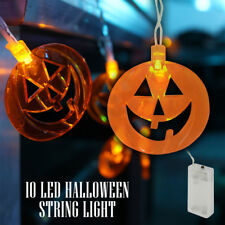 Halloween LED Battery String Fairy Lights Scary Pumpkins Spooky Decorations