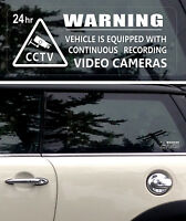 5 Warning Stickers Security CCTV Video Camera  Window Car Vehicle Sign Safety +