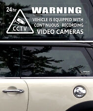 5 Warning Stickers Security CCTV Video Camera  Window Car Vehicle Sign Safety