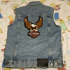 Harley-Davidson Men's Motorcycle Harley Eagle Patch Denim Patch Size Small