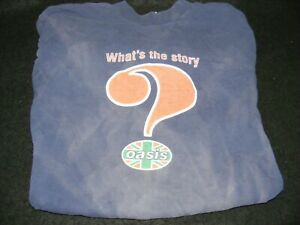 VINTAGE OASIS What's The Story Morning Glory 1995-96 TOUR Original T-SHIRT Large