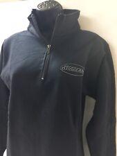 Harley-Davidson Women's Black Mock 1/4 zip sweatshirt Oval logo XL