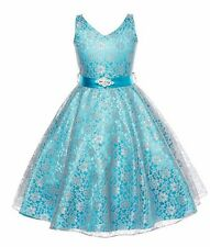 Pageant Flower Girl's Dress Kids Birthday Wedding Bridesmaid Gown Formal Dresses