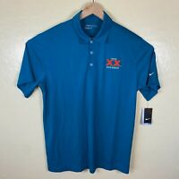 Nike Golf Dri Fit Polo Shirt Mens Large Dos Equis XX Beer Teal Short Sleeve New