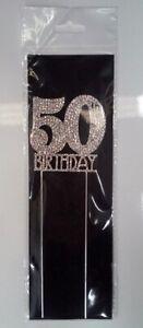 50th Birthday Diamante Cake Topper Decoration (6cm) Pk 1