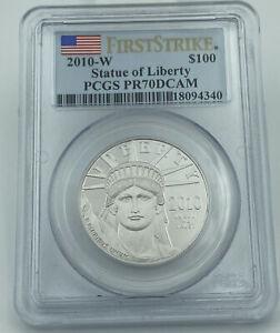 2010-W PCGS PR70DCAM Statue Of Liberty $100 Platinum Eagle First Strike