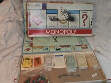 VINTAGE 1975 NO.9 MONOPOLY Board GAME Parker Brothers Complete #1
