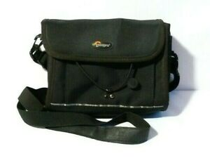 s/h Black Canvas Binoculars or Camera Case Bag Lowepro LX 80 Padded Soft Body