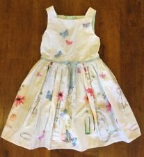 GIRLS MINT GREEN WITH BUTTERFLIES PARTY DRESS BY NEXT AGE 5 YRS