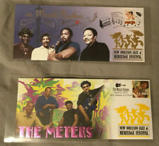 Lot of 2 Neville Bros (signed) Meters (unsigned) New Orleans Jazz Fest cachet