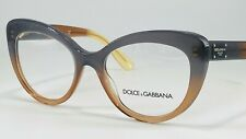Dolce & Gabbana DG3255 Women's Plastic Eyeglass Frame 3074 Grad Brn/Caramel/Yell