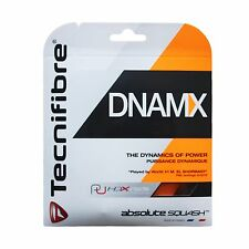 TECNIFIBRE dnmax-Nero-Squash STRING-set - 1.20mm/17g-GRATIS UK P & P