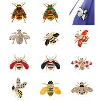 Stunning Crystal Honey Bee Brooch Pin Insect Bug Hat Lapel Scarf Pin Badge
