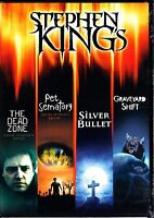 STEPHEN KING SILVER BULLET / GRAVEYARD SHIFT / PET SEMATARY / DEAD ZONE 4 DVD R1
