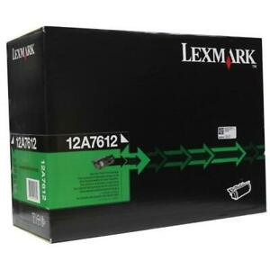 Lexmark 12A7612 Toner Original Noir T630 /T632/T634/X630 /X632/X634 (21K)