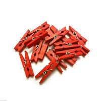 Mini Pegs Red 3.5cm Small Wooden Peg Choose pack size wood  UK Seller