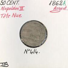 50 CENTIMES NAPOLEON III - 1862A - Pièce de monnaie en Argent // TTB