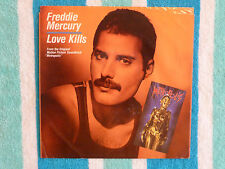 FREDDIE MERCURY Love Kills 45 rpm PICTURE SLEEVE ONLY Columbia 1984 QUEEN