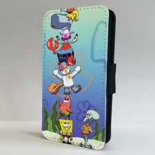 Spongebob Characters FLIP PHONE CASE COVER for IPHONE SAMSUNG