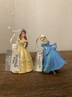 *Damaged* Hallmark Disney Princess Cinderella & Belle Christmas Tree ornaments