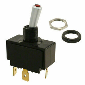 CARLING TECH LT-1511-610-012 Toggle Switch, SPST, 20A @ 12V, LIGHTED, WATERPROOF