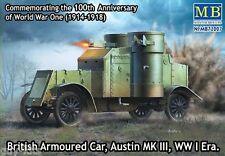 Véhicule blindé Britannique AUSTIN Mk. III, 1917 - KIT MASTER BOX 1/72 n° 72007