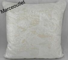 "Hudson Park Marbled Deco Sequin Decorative Pillow 20"" X 20"" Ivory"