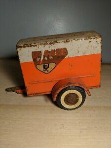 Vintage Nylint Toys U-Haul Moving Trailer Pressed Steel Rusty Door Stuck