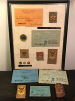 1930s - BOY SCOUT COLLECTION, RANK BADGES W/ CARDS from FORMER BSA EXECUTIVE