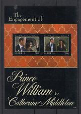 Liberia 2011 MNH Royal Engagement 2v S/S I Prince William Kate Middleton
