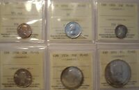 Canada 1954 6 Coin Silver Proof-Like Set ICCS Graded