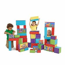 CRAYOLA COLOR YOUR OWN BLOCKS - 40 Jumbo Cardboard Building Blocks