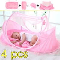 Baby Mosquito Nets Bedding Crib Folding Infant Cot Tent Bed Mat Portable Travel